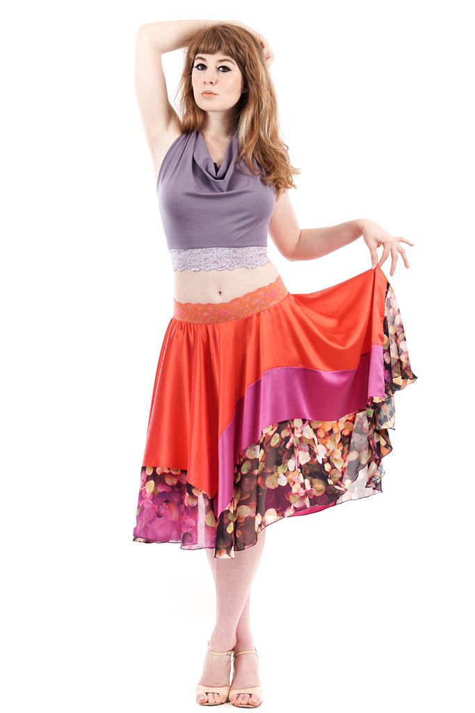 bokeh rose skirt