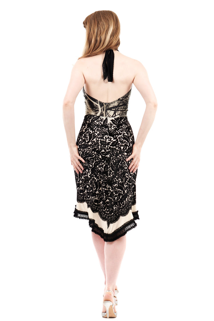 flock and fractal dress