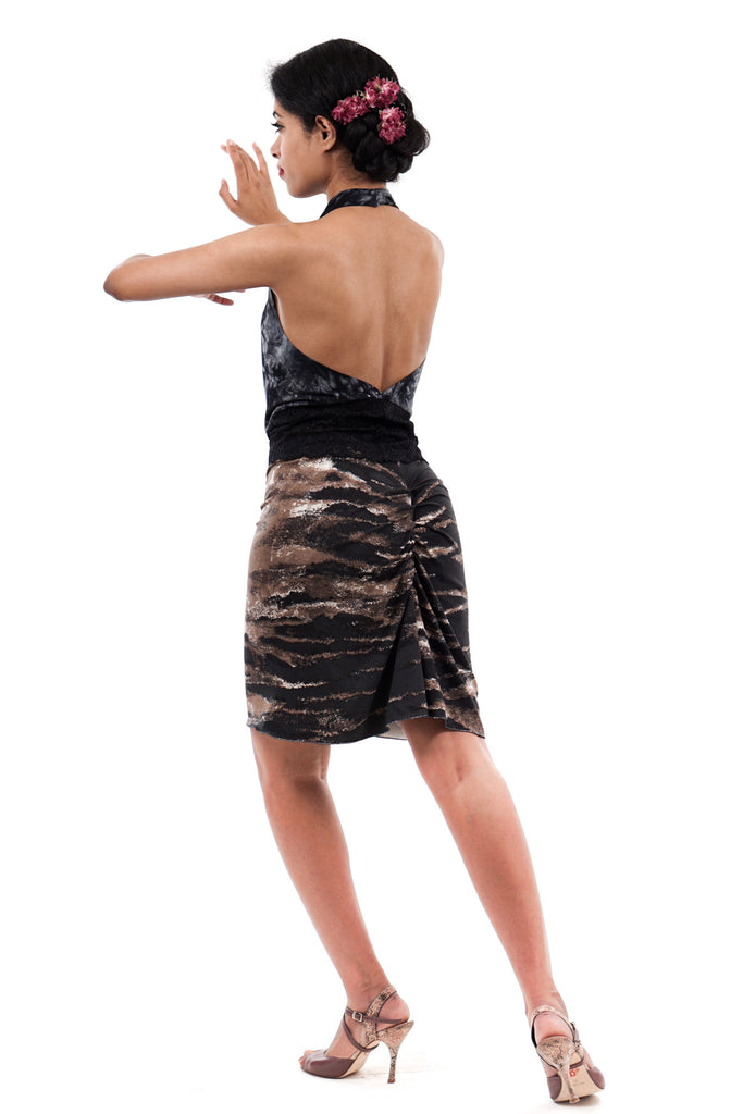 stone strata ruched skirt