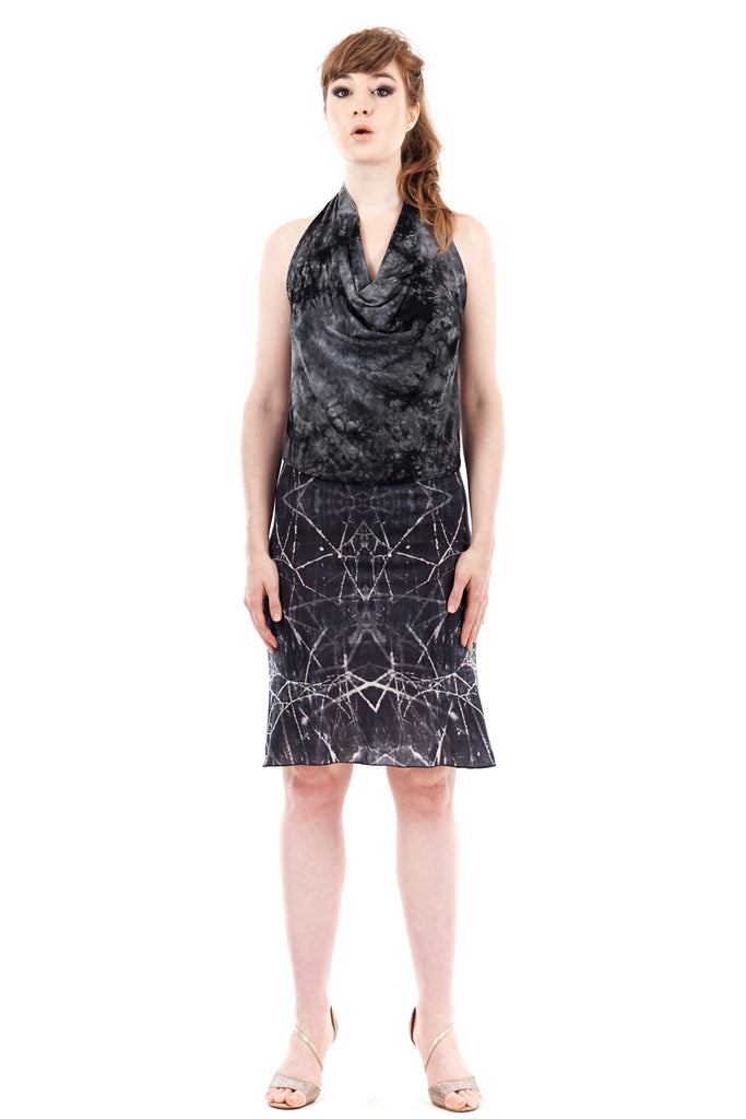 dew web ruched skirt