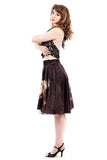 sepia rose silk skirt