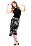 night moth draped skirt