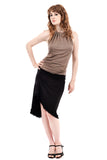 black bamboo draped skirt