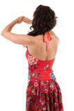 red porcelain high halter