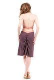 amethyst and rose ruched skirt