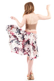 the signature skirt in watercolor and magnolia