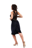 navy banded ruched skirt