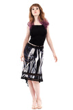 striated shadow dapple skirt