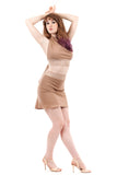 russet rose short skirt