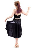 the signature skirt in black swan sequins