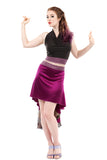 the signature skirt in violet & velvet