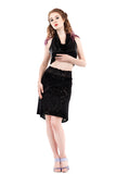 shadow damask skirt