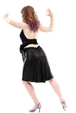 matte sealskin fluted skirt