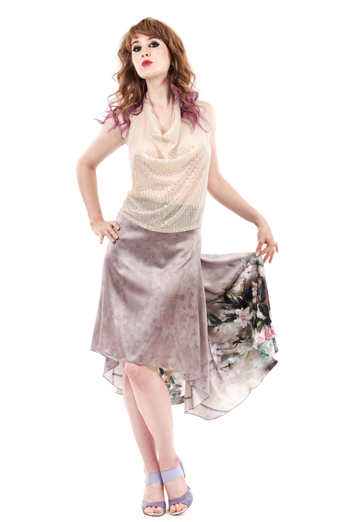 the signature skirt in oil painting