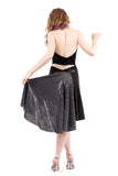 the signature skirt in cygnet & sequins