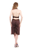 cocoa ruched skirt