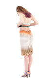 tequila sunrise ruched skirt