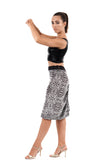 silver tile ruched skirt