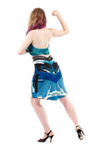 blue danube fluted skirt