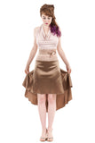 the signature skirt in dark gold