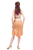 peachskin crushed velvet skirt
