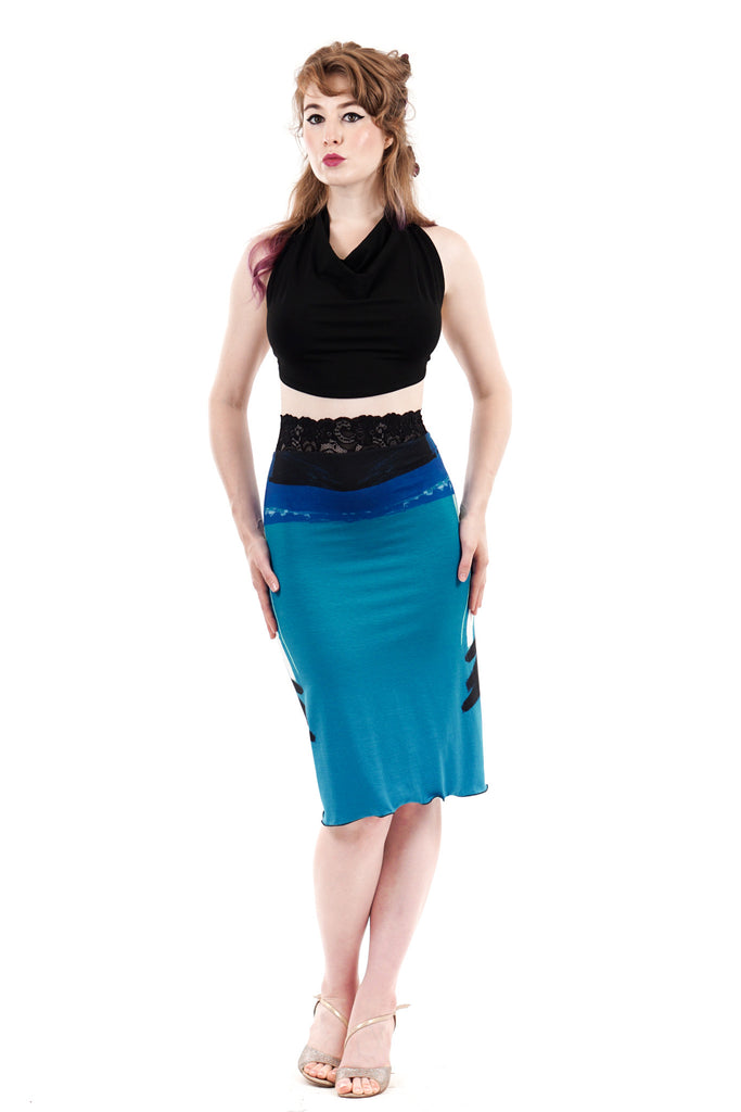 blue danube ruched skirt