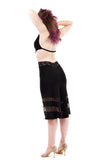 sequin striations bamboo skirt