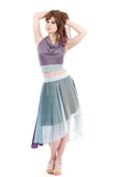 twilight ombre silk chiffon skirt
