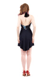 black porcelain & bamboo halter dress