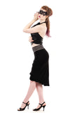 illusion band draped soft skirt