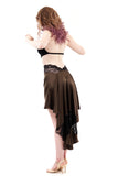 the signature skirt in lace and dark olive