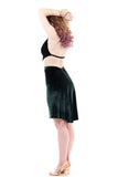 fir velvet fluted skirt