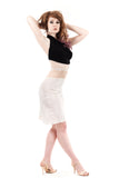 velvet lily ruched skirt