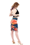 paint and light ruched skirt