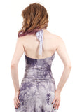 violet dyestorm high-neck halter