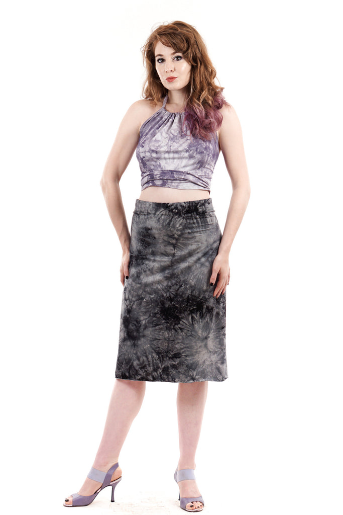 dyestorm ruched skirt