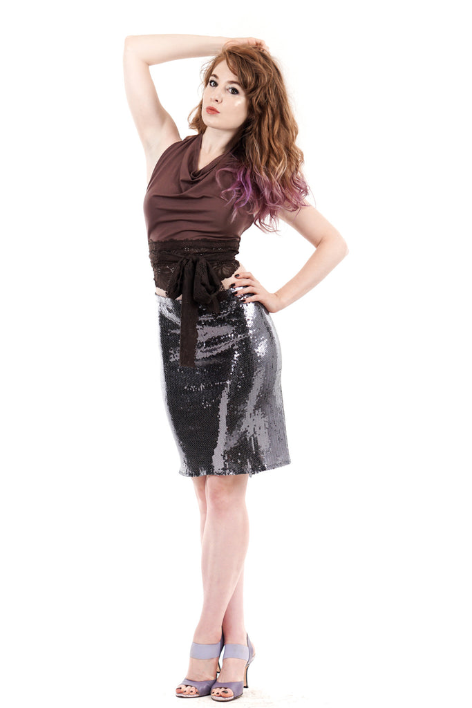 silver scale skirt