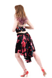 the signature skirt in roses-in-the-dark