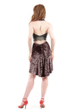 mink crushed velvet skirt