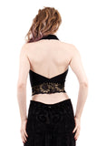 the signature halter in black and goldflower