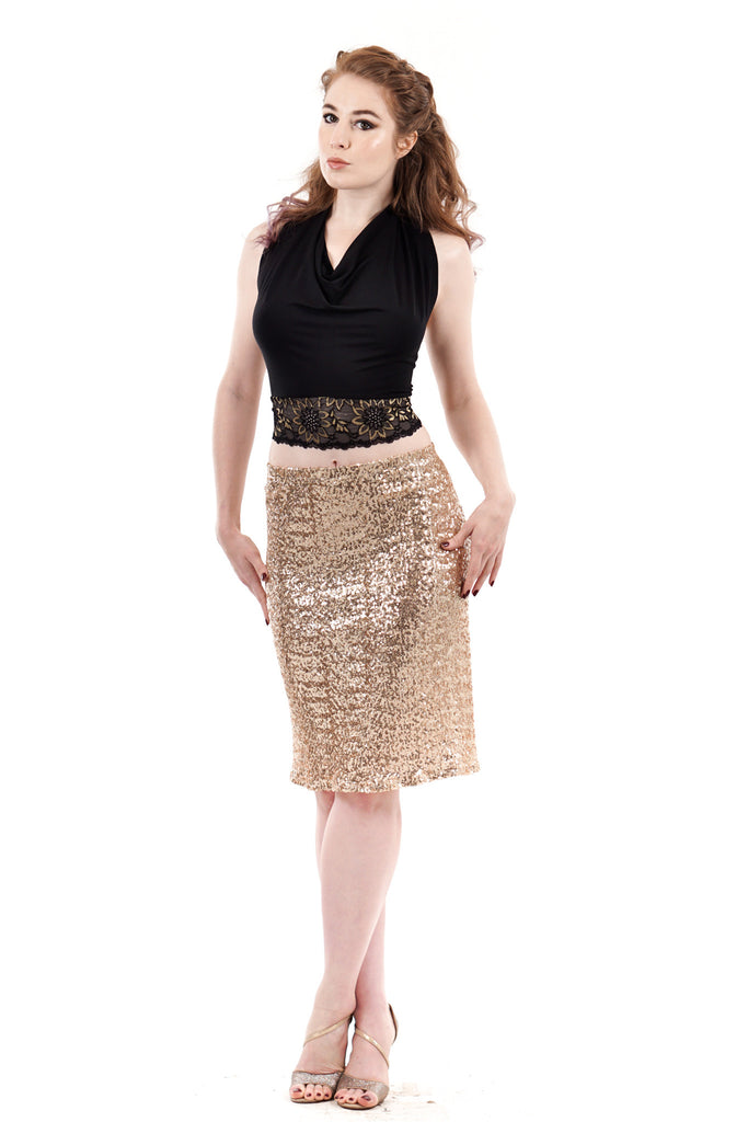 prosecco sequin skirt