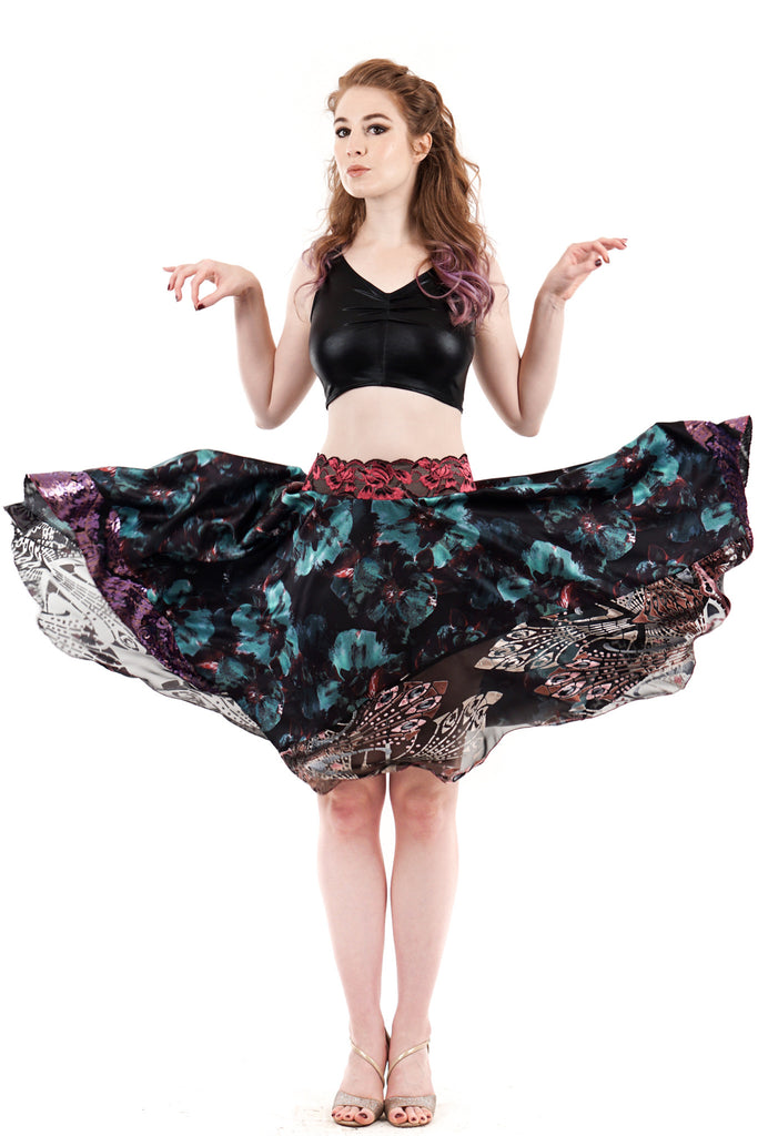 mazarine blooms circle skirt
