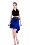 the signature skirt in winter cobalt