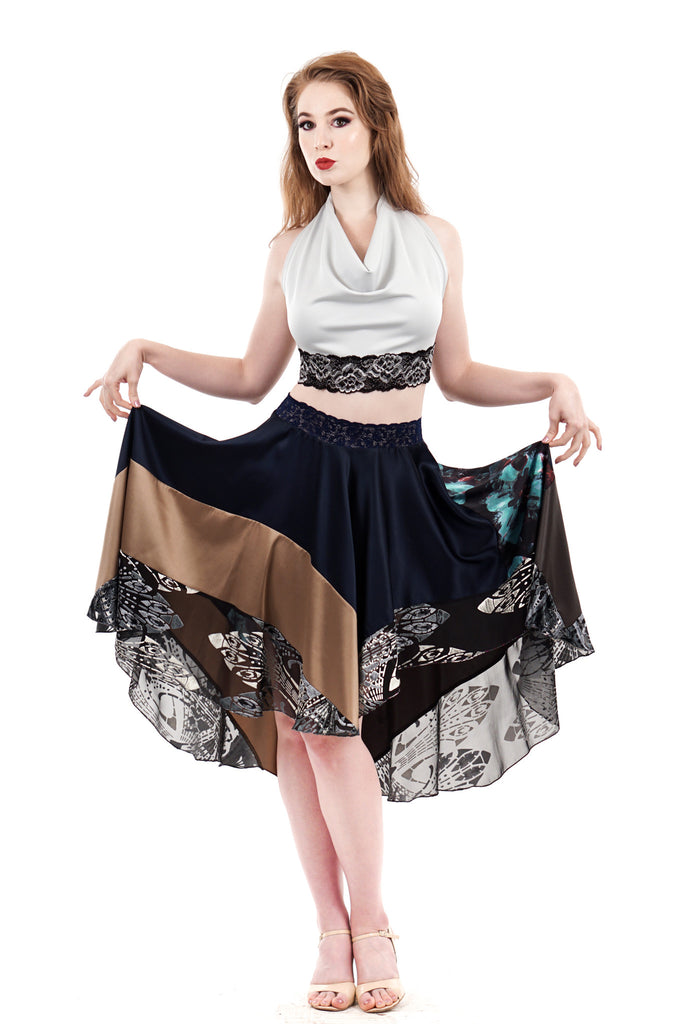 mazarine sea circle skirt