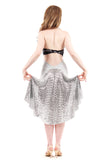 the signature skirt in plush dove & glitter ball