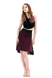 the signature skirt in plum moire and mazarine