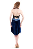 bolt blue velvet skirt