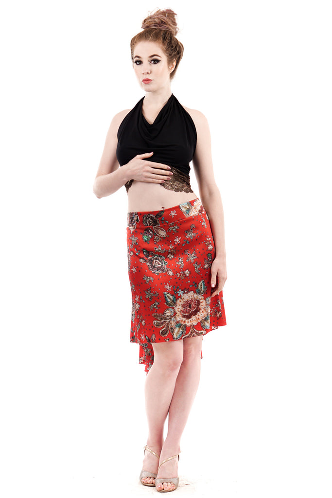 the signature skirt in scarlet jewel