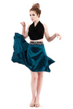 the signature skirt in holiday emerald