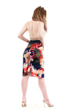 fractured palette ruched skirt
